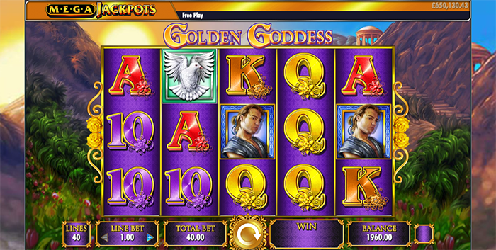 Megajackpots Golden Goddess Slot Review