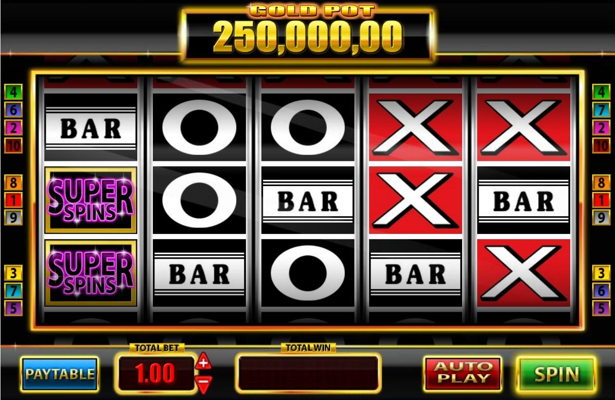 Super Spins Bar X Gold Slot Review
